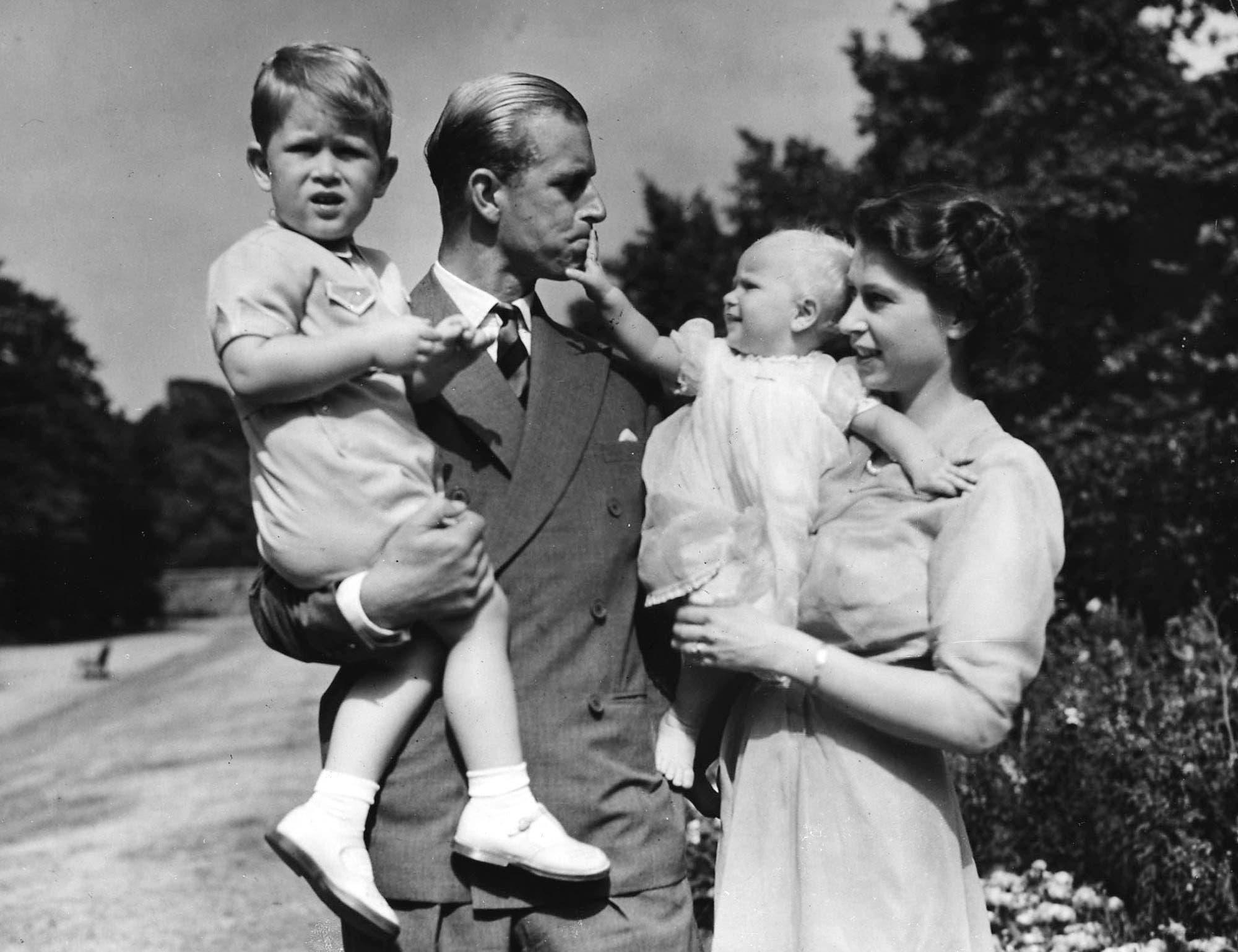 Prinzessin Elisabeth mit ihrem Ehemann Prinz Philip 1951.