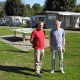 Anton und Jeannette Bitter führen in Mumpf den Camping- und Outdoorshop Kreher. Während Corona ist der Umsatz stark angestiegen. (Nadine Böni / Aargauer Zeitung)