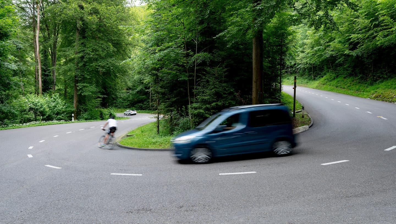 Die Strasse von Dornach auf den Gempen: Hier wären eigentlich nur 80 km/h erlaubt (Symbolbild). (Kenneth Nars)