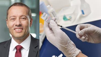 Peter Eberhard, Chef Gesundheitsamt Kanton Solothurn gibt Auskunft über die Impfung. (Zvg)