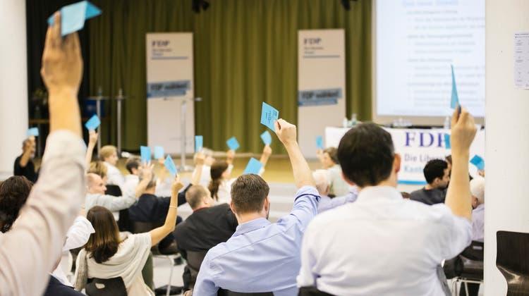 Parteitag der FDP vom Juni 2020 im Bildungszentrum Zofingen. Der Parteitag vom 11. Mai 2021 findet wieder online statt vor Ort statt. (Foto: Britta Gut (23.6.2020))