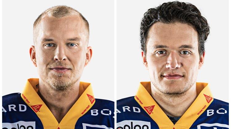 Santeri Alatalo (links) und Calvin Thürkauf wechseln vom EV Zug zum HC Lugano. (Bilder: PD)