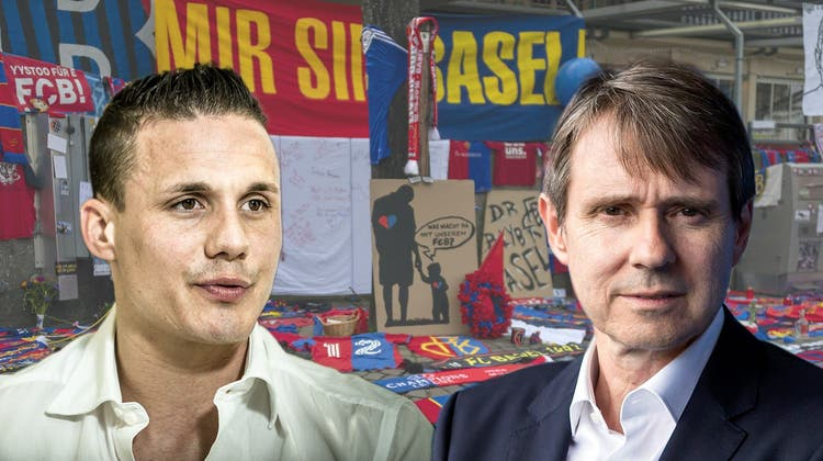 Minderheitsaktionär David Degen kämpft gegen Mehrheitsaktionär Bernhard Burgener um die Vorherrschaft beim FC Basel. (Keystone/Chris Iseli/Montage:kob)