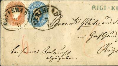 Die Rückseite des Rigi-Briefes. (Bild: PD/Rölli Auktionen)