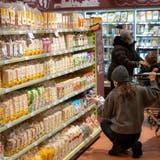 Wie hier in Baden (Januar 2021) eröffnet in rund einer Woche der erste Alnatura-Supermarkt in Basel. (Alex Spichale)