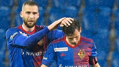 Pajtim Kasami und Valentin Stocker sind die Torschützen beim 2:0 gegen Lugano. (Urs Lindt / freshfocus)