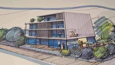 Geht es nach der Käuferin sollen an der Seetalstrasse bald Wohnungne und eine Bäckerei entstehen. (Zvg)