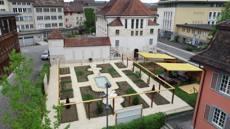 Auf 450 Quadratmetern ist hinter dem Vindonissa Museum in Brugg ein römischer Garten rekonstruiert worden. (Bild: zvg/Museum Aargau)