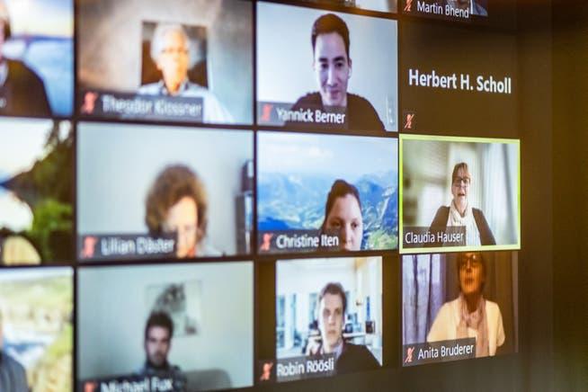 Rund 180 Delegierte nahmen am online-Parteitag teil.