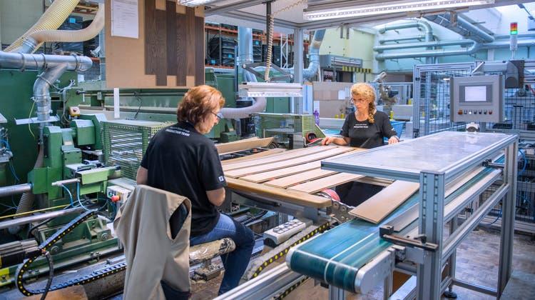 Blick in die Produktion der Bauwerk Group in St.Margrethen. (Bild: Urs Bucher)