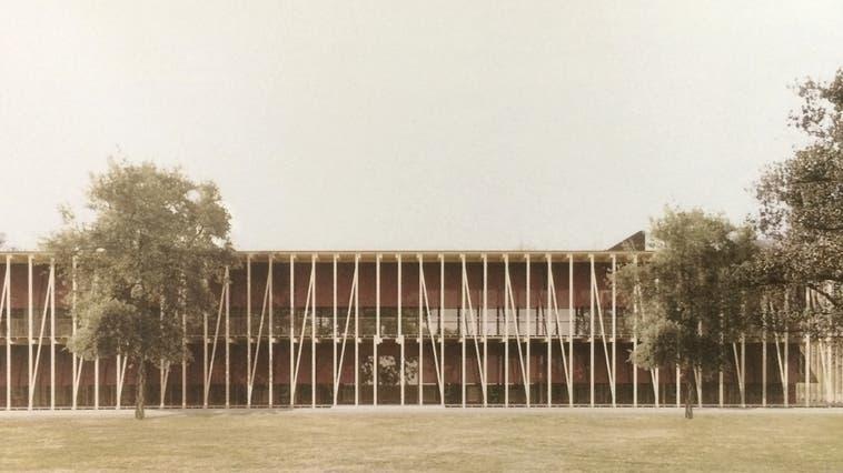 So soll das neue Amt für Verbraucherschutz in Unterentfelden aussehen: ein zweigeschossiger Pavillon in Holzbauweise. (Visualisierung: zvg)