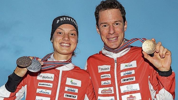 Wollen in Zukunft wieder über Erfolge lachen: Erfolgsgaranten Simona Aebersold und Daniel Hubmann an der WM 2019 in Finnland.