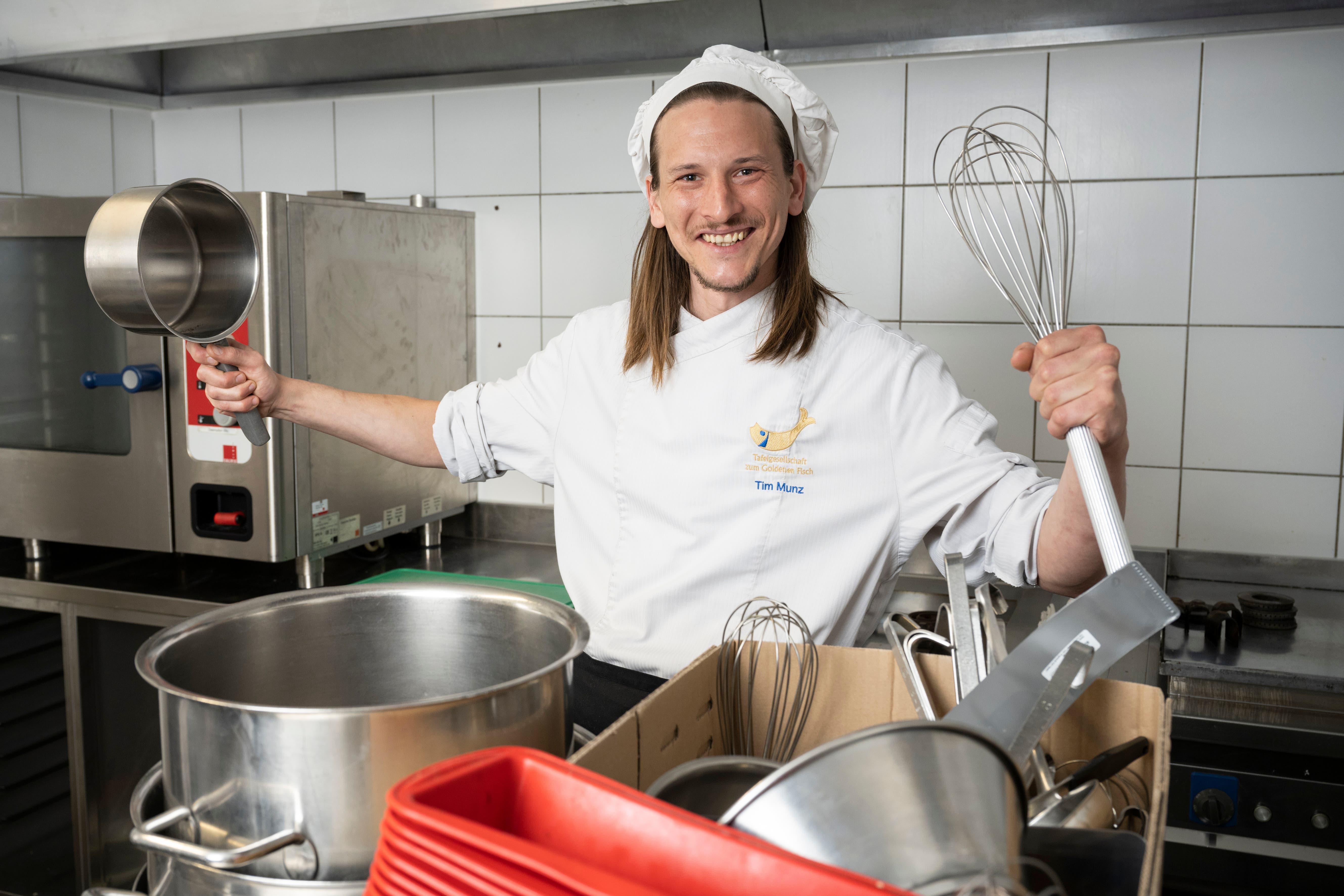 Baden, 13. April: Tim Munz übernimmt das «Oberstadt». Der 31-Jährige ist mit 14 Gault-Millau-Punkten ausgezeichnet.