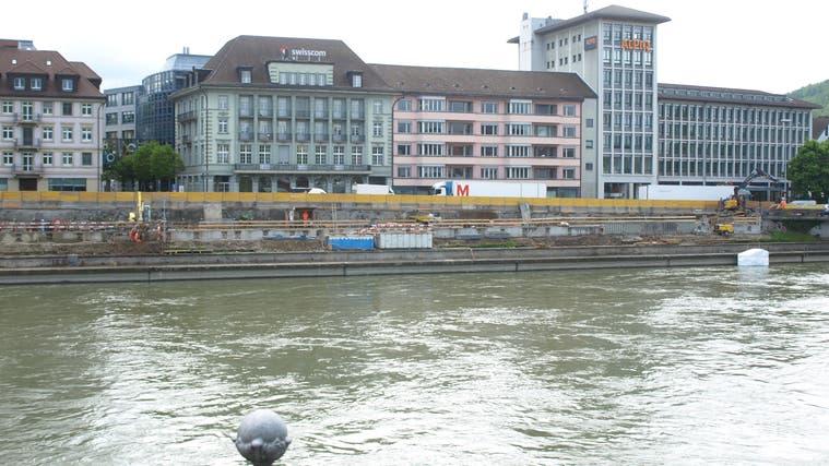 Noch gelten die aktuellen Bauarbeiten dem Bahnhofquai; in deren Zug aber wird auch der Ländiwegattraktiviert und bis Ende 2022 fertiggestellt sein. (Urs Huber)