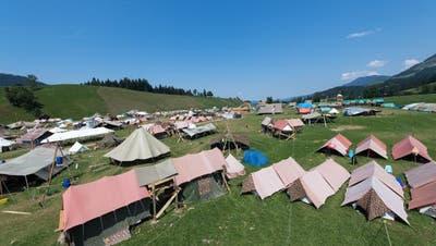 Kantonale Lager kennt nebst der Jubla auch die Pfadi, wie etwa hier auf dem Bild in Escholzmatt im Jahr 2018. (Bild: Eveline Beerkircher (Escholzmatt, 19. Juli 2018))