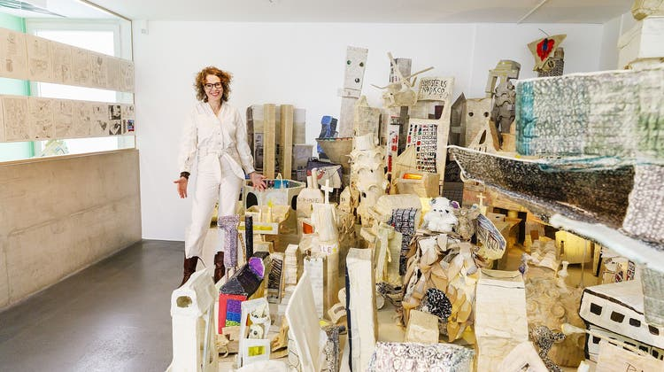 Anette Gehrig im Cartoonmuseum Basel. (Derek Li Wan Po)