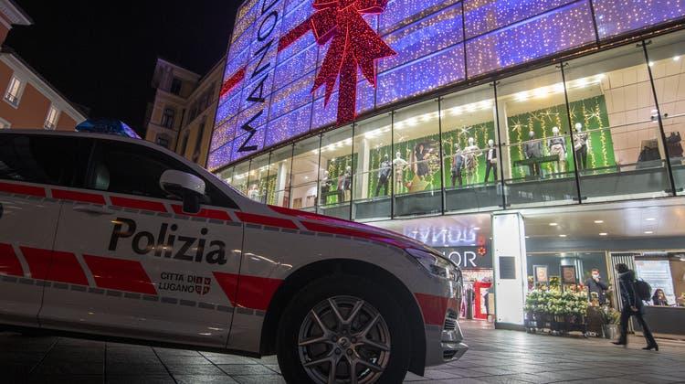 In Lugano hat im November eine 28-jährige Täterinzwei Frauen mit einem Messer angegriffen. (Keystone)