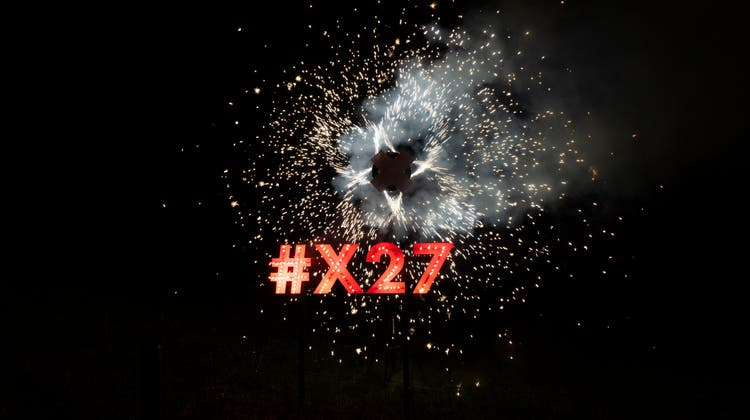 Die Bewegung X27hat über ihre Ideen einer Landesausstellung informiert. (X27/Keystone/Severin Bigler)