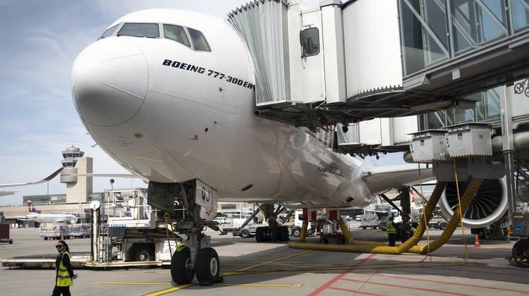 Die Zahl der Passagiere am Flughafen Zürich nimmt weiter zu. (Keystone)