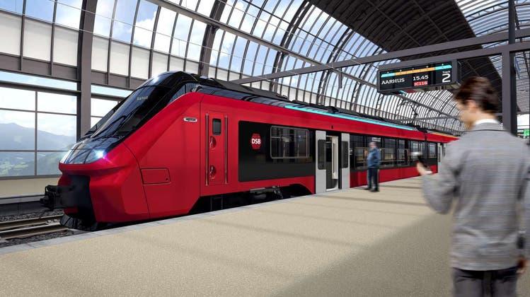 Visualisierung des Alstom-Zugs für die dänischenStaatsbahnen. (Bild: PD)
