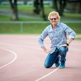 Nick Sigg auf der 400-Meter-Bahn im Stacherholz. (Bild: Reto Martin)