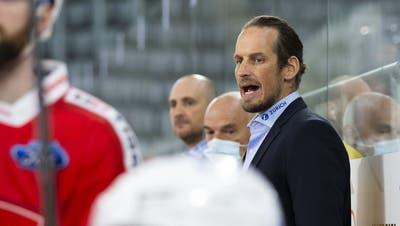 Einer der letzten Tests vor der WM in Lettland: Die Schweiz gewinnt mit Patrick Fischer an der Bande gegen Russland. (Bild: Freshfocus/Pascal Muller (Biel, 1. Mai 2021))