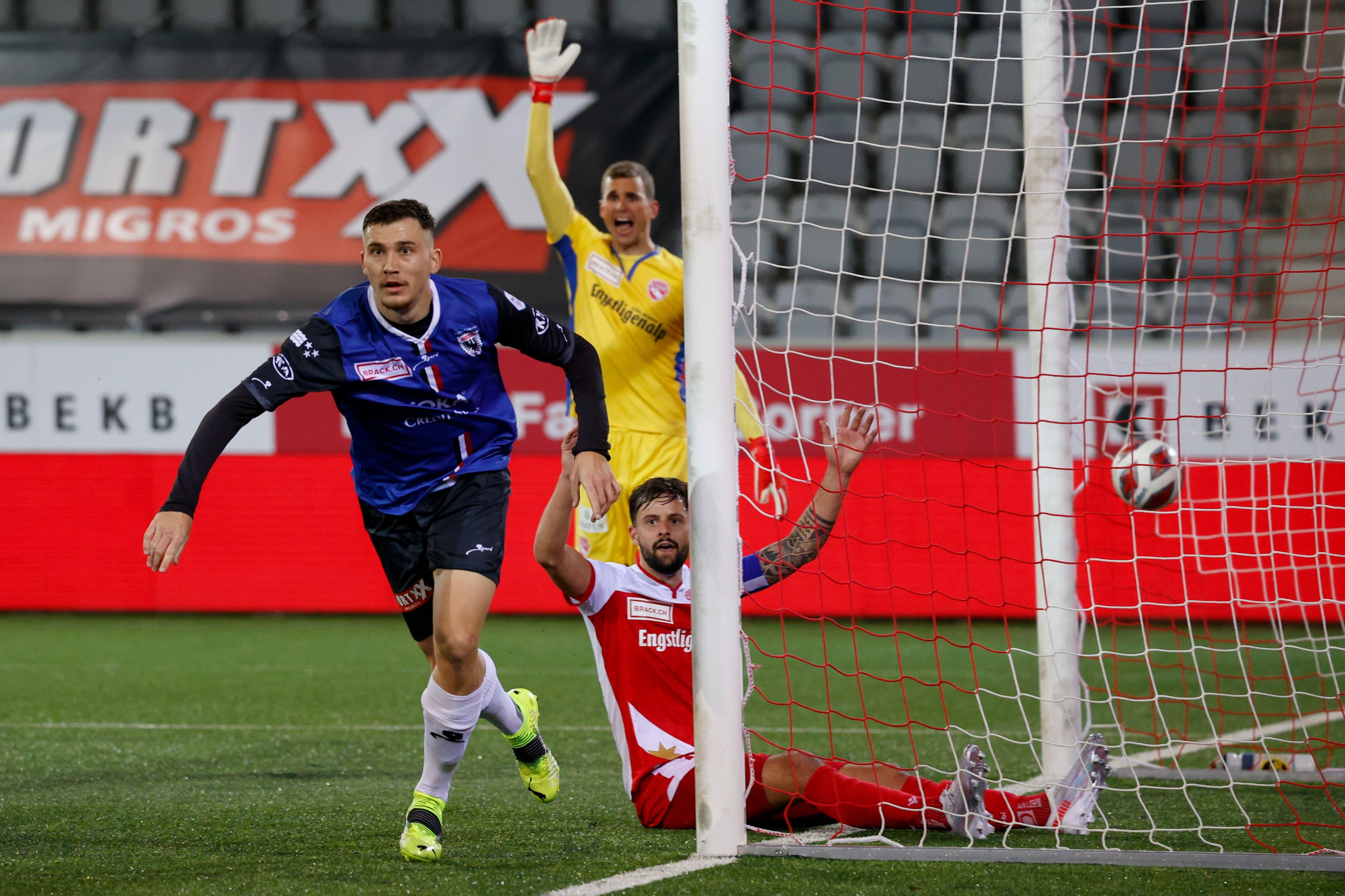 FCA-Goalgetter Filip Stojilkovic sorgt für den 3:1-Endstand.