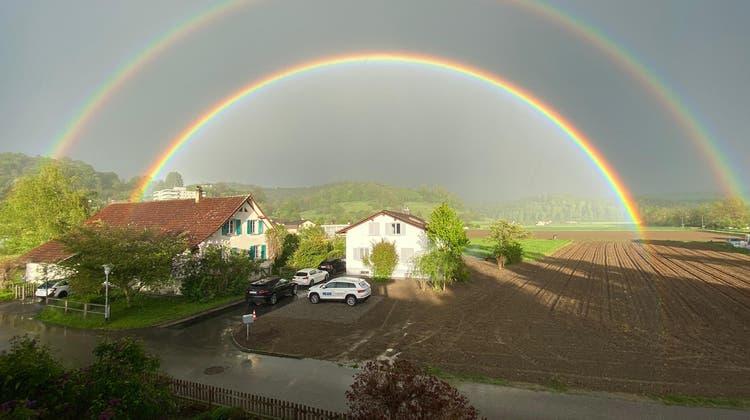 Ein doppelter Regenbogen über Gränichen (zVg)