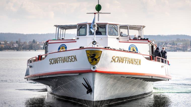 Die «Schaffhausen» der Flotte der Schifffahrtsgesellschaft Unterssee und Rhein. (Bild: Andrea Stalder)