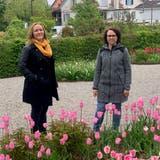 Patricia Spirig (links) gibt ihr Amt als Präsidentin der IGEA an Monika Sutter ab. (Bild: Saskia Ellinger)