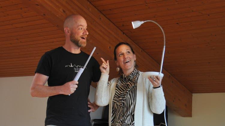 Für zündende Ideen: Debbie und Beny Schnyder. (Bild: Kristina Gysi (Stans, 12. Mai 2021))