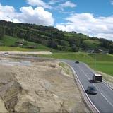 Die Umfahrung Wattwil mit Anschluss in Ebnat-Kappel nimmt Gestalt an: Die Strassenführung im Bereich Stegrüti. (Screenshots: PD)