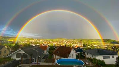 Regenbogen über dem Aargau: Die schönsten Bilder unserer Leserinnen