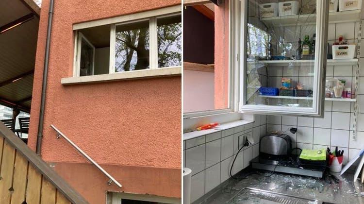 Die Täterschaft schlug dieses Fenster ein. (Facebook/Drei-Sternen Bar)