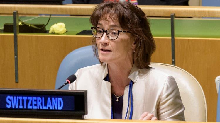 Wie stimmt die Schweiz? Die UNO-Botschafterin der Eidgenossenschaft in New York, Pascale Baeriswyl, könnte das Land ab 2022 auch im Sicherheitsrat vertreten. (Bild: Manuel Elias/UN/AFP)