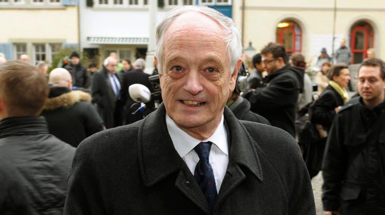 Hans Wehrli, ehemaliger Zürcher Stadtrat und Präsident von Exit. (Archivbild: Steffen Schmidt/Keystone)