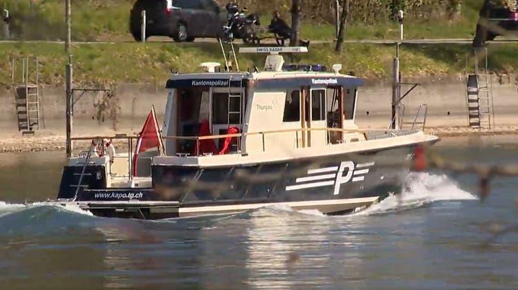 Bei der gross angelegten Suchaktion nach der vermissten Taucherin am Sonntag waren auch Boote und ein Helikopter im Einsatz gestanden. (Screenshot)