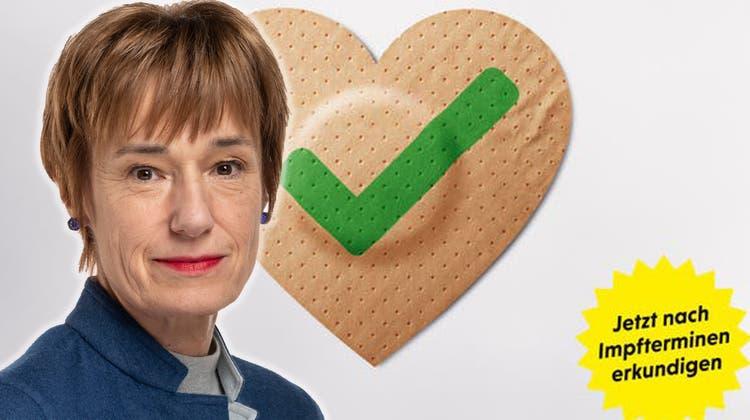 Nationalrätin Ruth Humbel, Die Mitte, ist ob der neuen Kampagne irritiert. (Alex Spichale)