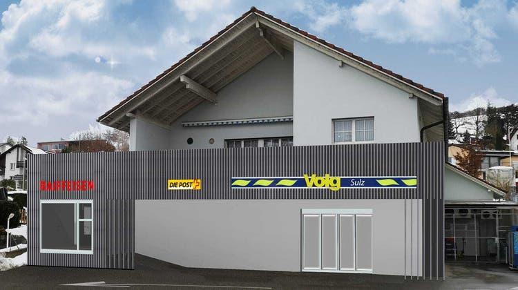 Erste – provisorische – Visualisierungen zeigen, wie der Dorfladen dereinst aussehen könnte. (Zvg / Aargauer Zeitung)