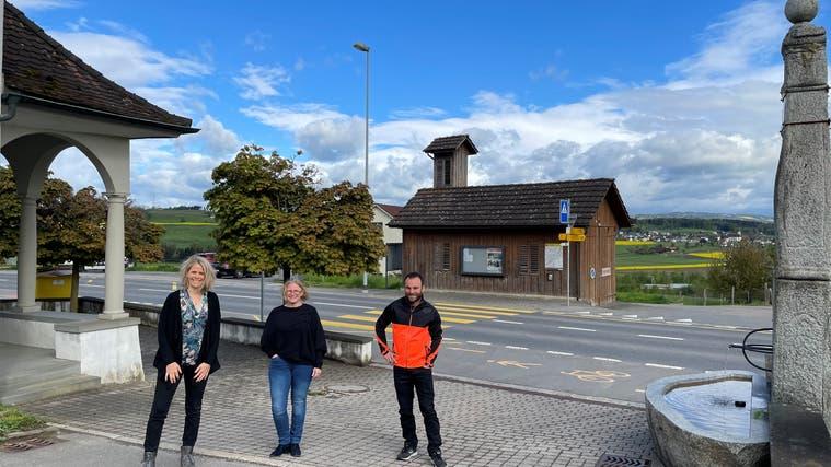 Der Honauer Gemeinderat (von links) mitSandra Linguanti-Hurter (Soziales), Beatrice Barnikol (Gemeindepräsidentin) und Samuel Wicki (Finanzen). (Bild: PD)