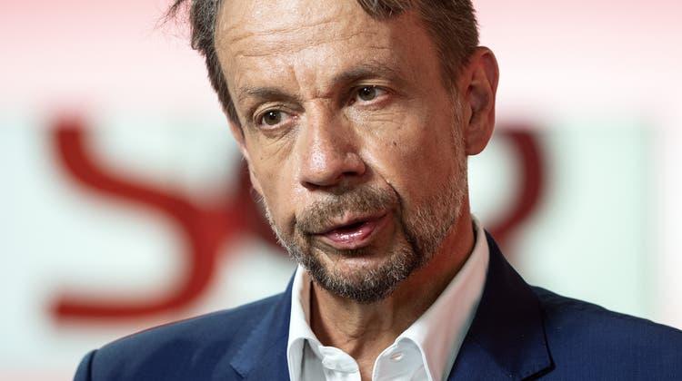 Bundesrätin Sommaruga hat einige Fragen an ihn: Gilles Marchand, der Generaldirektor SRG. (Peter Schneider / KEYSTONE)