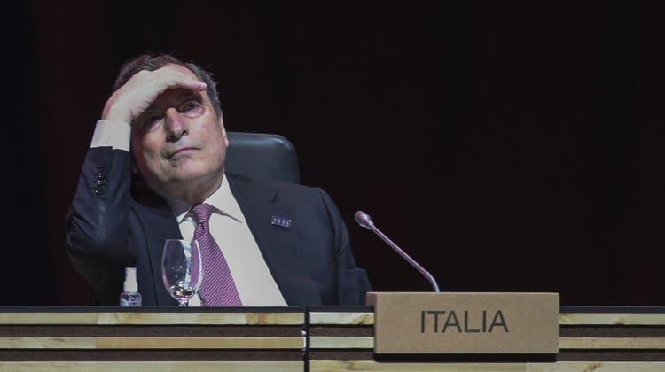Keine einfachen Aussichten: Italiens Ministerpräsident Mario Draghi sieht Koalitions-Konflikte auf sich zukommen. (Luis Vieira / AP)
