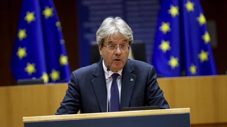 EU-Wirtschaftskommissor Paolo Gentiloni will die europäischen Steuersysteme harmonisieren. (Francisco Seco / Pool / EPA)