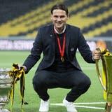 Letztes Jahr gewann Gerardo Seoane Cup und Meisterschaft. Doch der Wechsel in der Bundesliga folgt erst ein Jahr später. (Peter Klaunzer / KEYSTONE)