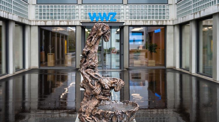 Die Skulptur ist auch ein Wasserspiel. (Bild: WWZ/PD)