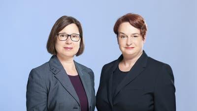 Der Regierungsrat schlägt dem Landrat für die Neubesetzung der Stelle der Ersten Staatsanwältin Jacqueline Bannwarth und Patrizia Krug im Topsharing per 1. Juli 2021 vor (Sabrina Stäubli - Perspektiv)