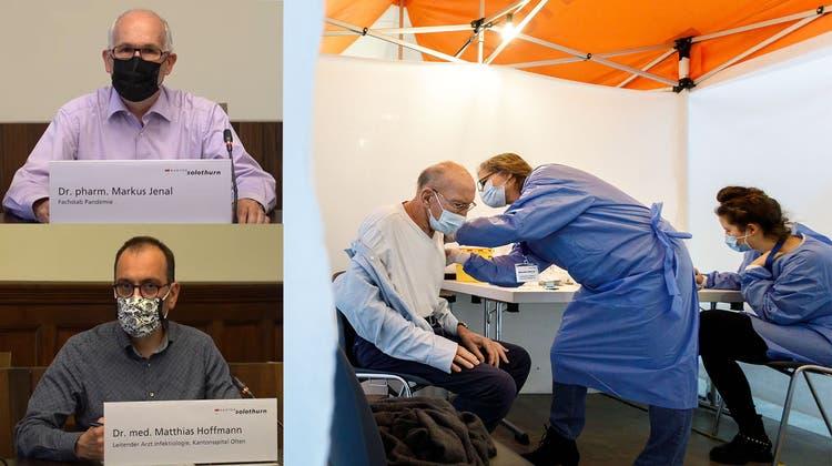 Unter anderem wird im Impfzentrum in der Rythalle Solothurn geimpft. (Bild: zvg)