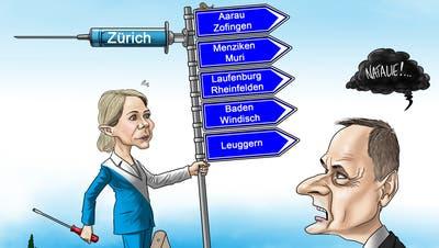 Stehen vor dem Impfzentrum in Dietikon bald Aargauerinnen und Aargauer Schlange? (Sandra Ardizzone)