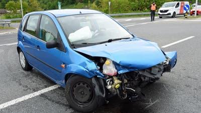 Mit diesem Auto aus Richtung Pfaffnau kollidierte die Autofahrerin. (Bild: Luzerner Polizei)