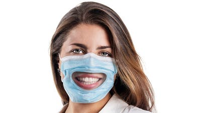 Die transparente Hygienemaske vom Schweizer UnternehmenFlawa. (Bild: zvg)